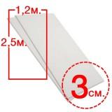 Размер: 1,2х2,5м, толщ. 3см.  (мин.заказ 10м3)