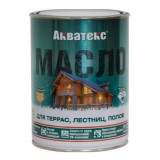 Акватекс масло для террас, лестниц, полков 0.75л.