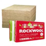 Каменная вата ROCKWOOL Лайт Баггс Скандик 0.6х0.8м 50мм - 12шт. (0,288м3-5,76м2)