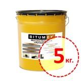 Мастика битумная для фундамента Bitumex 5кг.
